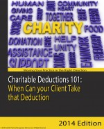 Charitable Deductions 101 When Can your Client Take that Deduction
